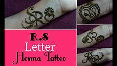 R Letter Designs On Hand Diy Henna Mehndi Design Beautiful R S Letter