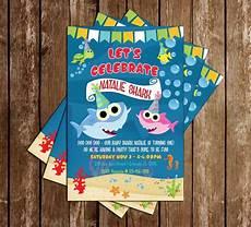 Baby Birthday Party Invitations Novel Concept Designs Baby Shark Girl Birthday Party