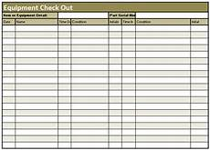 Inventory Checkout Form Best Photos Of Check Out Inventory Sheet Equipment Check