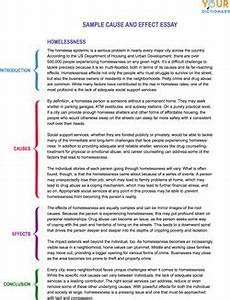 Examples Of Cause And Effect Essay Cause And Effect Essay Examples