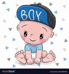 Baby Cartoons Free Cute Cartoon Baby Boy In A Cap Royalty Free Vector Image