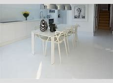 White resin comfort floor   Highbury, London
