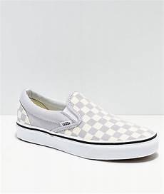 Light Blue And Checkered Vans Vans Slip On Checkerboard Grey Dawn Amp White Shoes Zumiez