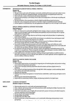 Digital Media Resume Social Media Manager Resume Ipasphoto