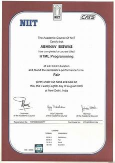 Niit Certificate Format Pdf Testimonials