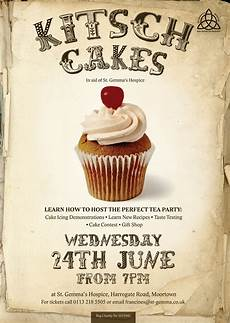 Cake Poster Design Kitch Cakes Poster For St Gemma S Hospice Lovelife Design