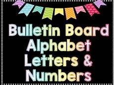 Letters For Bulletin Boards Templates Free Bulletin Board Alphabet Letters Numbers And Symbols