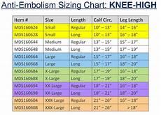 Anti Embolism Sizing Chart