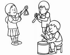 kostenlose malvorlage musik kinder in der musikschule zum