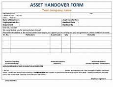 Handover Form Asset Handover Form