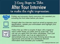 Should I Call After An Interview 5 Actions To Take Straight After A Job Interview