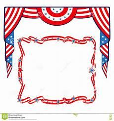 Patriotic Template Us Flag Patriotic Border Template Stock Vector