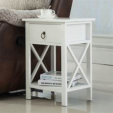 2 pcs wood end side bedside table nightstand bedroom w