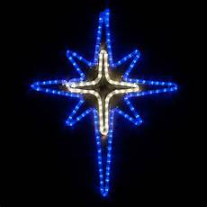 Led Lighted Star Of Bethlehem Snowflakes Amp Stars 28 Quot Led Blue And Cool White Bethlehem