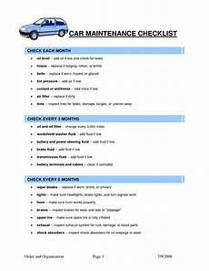 Car Maintenance Checklist Form Car Maintenance Checklist Template Car Maintenance Tips