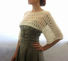 knit summer cotton summer cropped sweater shrug knitted