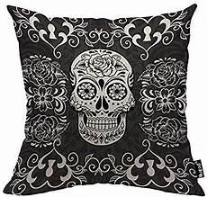 mugod skull throw pillow day of the dead sugar skull