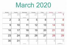 March 2020 Printable Calendar With Holidays March 2020 Calendar Pdf Word Excel Template Free