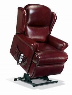 malvern standard leather electric riser recliner