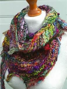 knit art boho knit scarf yarn scarf handspun yarn scarf