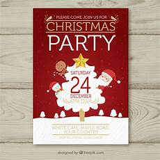 Chrismas Posters Christmas Poster With Classic Elements Vector Free Download