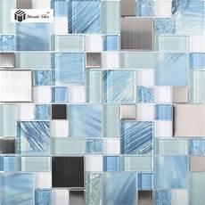 blue tile kitchen backsplash tst glass metal tile blue sky cloud white kitchen bath