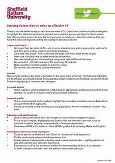 How Is A Cv Set Out Cvs Careers Connect