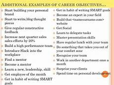 Sample Career Goals And Objectives Top 10 Career Goals Examples