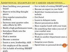 Examples Of Career Goals Top 10 Career Goals Examples