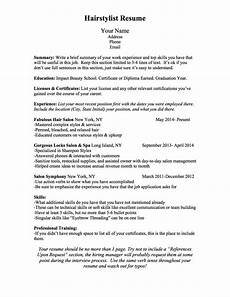 How Should A Professional Resume Look Bcn Script What Should A Hairstylist Resume Look Like
