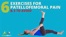 Patella Femoral Syndrome 6 Patellofemoral Syndrome Exercises Treatment For