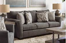 88 quot transitional sofa in gray mathis brothers furniture