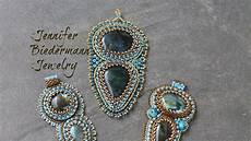 bead embroidery labrarodite focal pendant tutorial