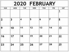 Free Calendars 2020 Printable Online Free Printable February 2020 Calendar Net Market