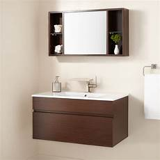 signature hardware 33 quot dimitri wenge wall mount vanity and