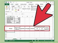 Excel Loan Amortization Schedule In Months How To Prepare Amortization Schedule In Excel 10 Steps
