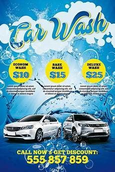Car Wash Pictures For Flyer Car Wash Free Poster Template Download Psd Flyer Best