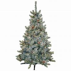 Home Depot Trees With Lights General Foam 4 5 Ft Pre Lit Siberian Frosted Pine