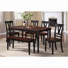 cherry black wood dining chair set of 2