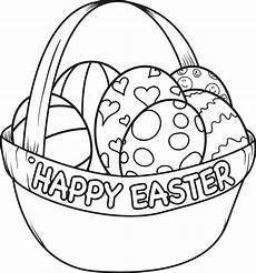 Coloring Eggs Printable Easter Egg Basket Coloring Page For Supplyme