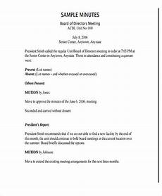 Minutes For A Meeting Free 5 Nonprofit Meeting Minutes Examples Amp Templates