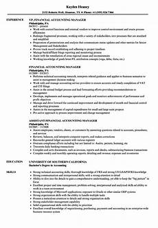 Accounting Manager Resume Financial Accounting Manager Resume Samples Velvet Jobs