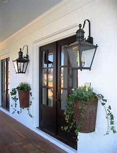 Farmhouse Front Porch Lights Old New Orleans Entryway Planters Amp Lanterns Modern