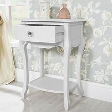 juliette white bedside cabinet 1 drawer with