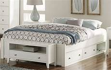 pulse white platform bed with storage from ne