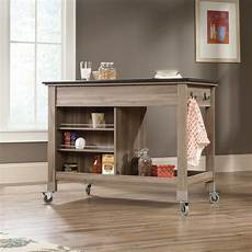 Mobile Kitchen Island In Rainwater 414385 Sauder 417089 Mobile Kitchen Island The Furniture Co