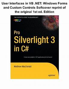 Silver Light Editions Pro Silverlight 3 In C Expert S Voice In Silverlight