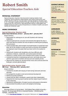 special education teacher assistant resume cerificate templates educational aide certification