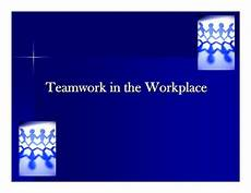 Teamwork Examples In The Workplace Teamwork Ppt Presentation