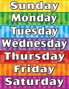Printable Days Of The Week Chart Days Of The Week Chart Tcr7608 Teacher Created Resources